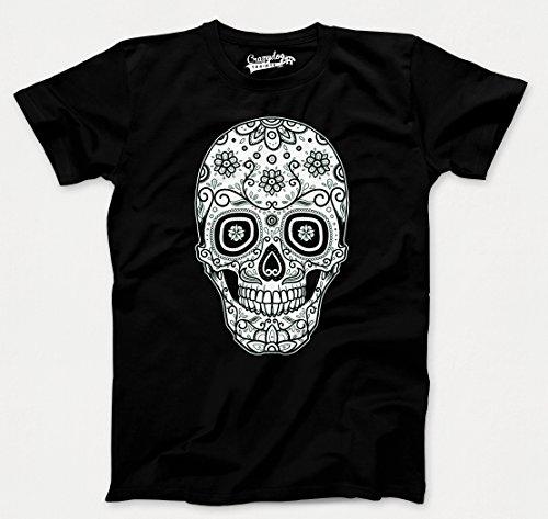 Crazy Dog TShirts - Mens Sugar Skull Cool Mexican Cinco De Mayo Holiday Drinking T shirt - herren -