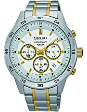 Seiko Watches Mens Neo Sport Chronograph Two-Tone Stainless Steel Watch (Silver)