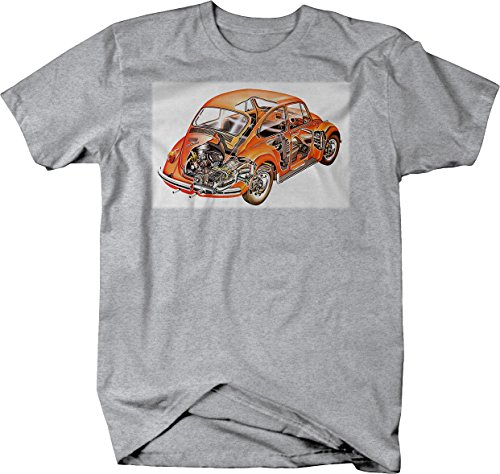 VW Volkswagen Beetle Bug Retro Hippie Tshirt - - Retro Hippie