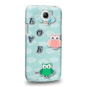 Case88 Premium DesignsCute Love Owl Series Three Love Owl Carcasa/Funda dura para el Samsung Galaxy S4 mini (No Normal S4 !)