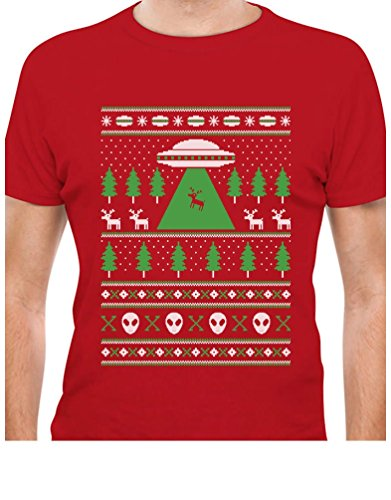 UFO Alien Reindeer Abduction T-Shirt