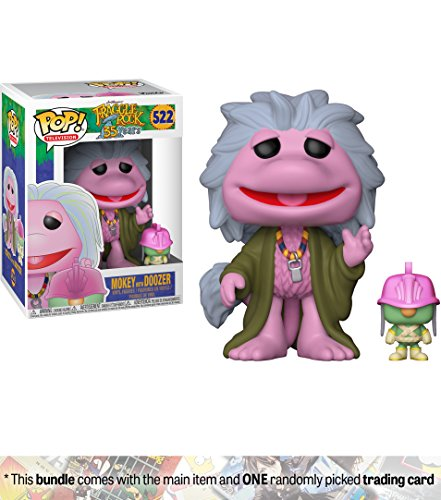 Fraggle Rock Puppets (Mokey w/ Doozer: Funko POP! TV x Fraggle Rock Vinyl Figure + 1 American Cartoon Themed Trading Card Bundle [#522])