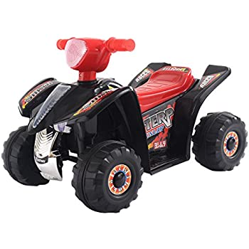 Costzon 6V Products Kids ATV Quad 4 Wheeler Ride On On with 6V Battery Power Led Lights