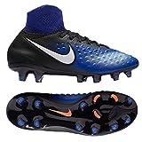Nike Kid's JR Magista Obra II FG, Black / White - Paramount Blue, Youth Size 4.5
