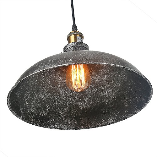 LNC Gray Dome Pendant Lighting Industrial Pendant Lights