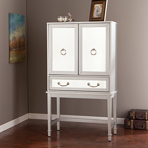 Southern Enterprises AMZ5519ZH Mirage Mirrored Bar Cabinet
