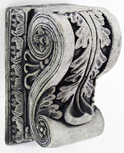 Fleur de Lis Garden Ornaments LLC European Acanthus Corbel Concrete Wall Plaque Cement Architectural Corbels Sculptures