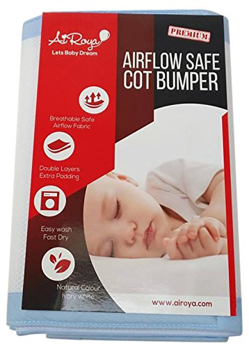 Airoya Premium 2 Sided Crib Bumper Double Layers For Extra Padding Ideal