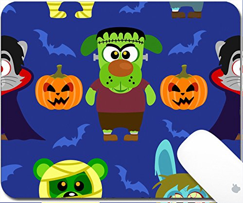 Luxlady Gaming Mousepad 9.25in X 7.25in IMAGE: 31870702 Seamless with animal in Halloween (Dracula Costume Images)