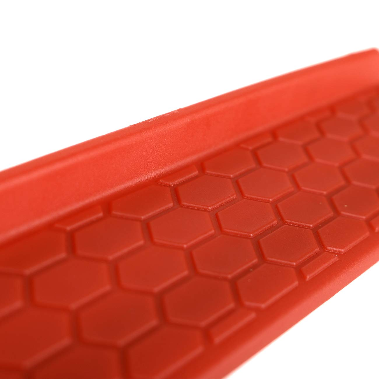 BOXATDOOR Honeycomb for 2018 2019 Jeep Wrangler JL 4Door Sill Protector Scuff Plate Entry Guards Protector Trim Red