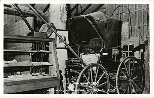 Doctors Buggy 1890-Placer County Museum Auburn, California Original Vintage Postcard