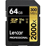 Lexar Professional 2000x 64GB SDXC UHS-II/U3 (Up to 300MB/s Read) w/USB 3.0 Reader/Image Rescue 5 Software LSD64GCRBNA2000R