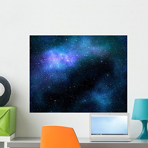 Wallmonkeys Starry Deep Outer Space Nebula And Galaxy Wall Decal Peel Stick Graphic WM249172 24 In W X 19 H