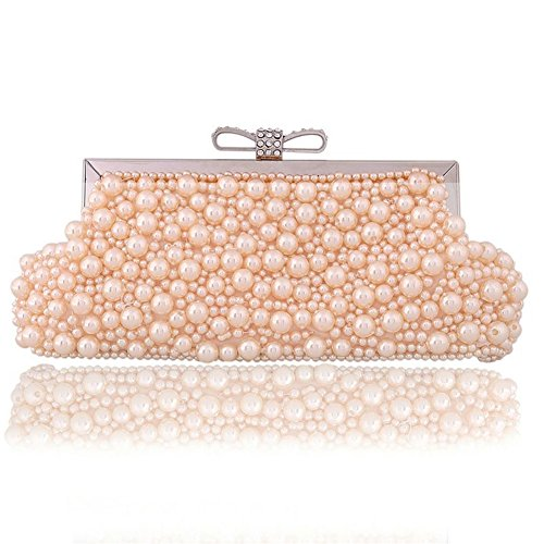 Diamant Ergeob® Pochette À Chapelet Fait De Anneau La Soirée Clutch Femmes Champagne Main Boucle Sac Couleur qqC15v