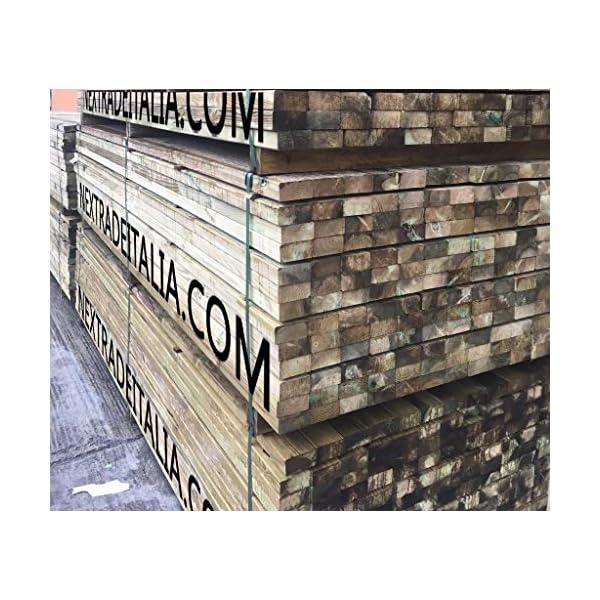 Tavola in legno liscia per PERGOLA gazebo giardino morale RECINZIONE e pergolati TRATTATO 45X90 MM H 100 CM CARTOMATICA… 3 spesavip