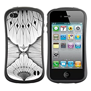 LASTONE PHONE CASE / Suave Silicona Caso Carcasa de Caucho Funda para Apple Iphone 4 / 4S / Black White Moscow Subway Architecture