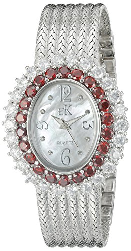 Adee Kaye Women's AK2423-TZ GLAM COLLECTION Analog Display Analog Quartz Silver Watch
