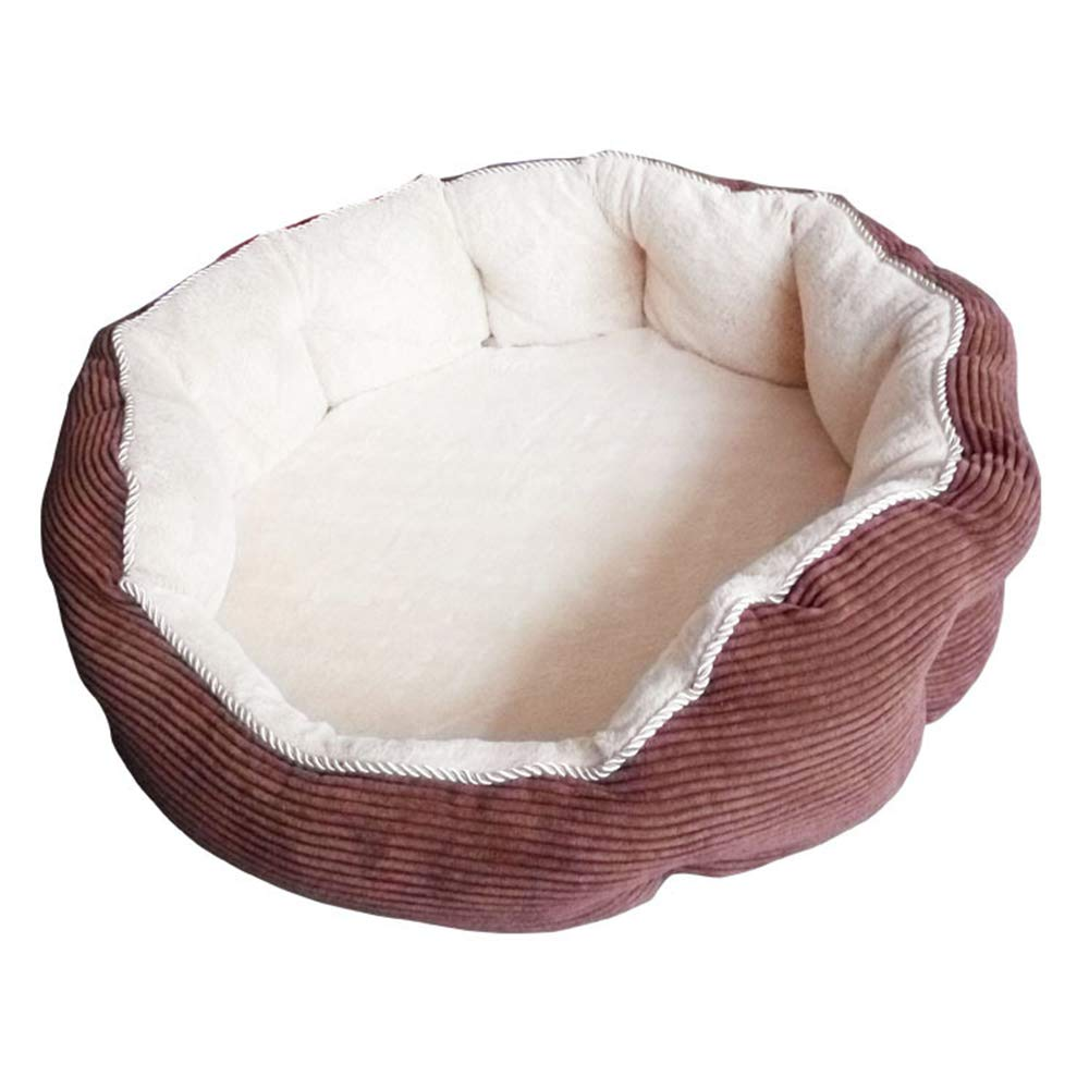 B Pet Nest Round Autumn and Winter Warm Short Plush PP Cotton Quality New Kennel,A