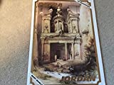 "PETRA ... The Complete Collection of David Roberts Lithographs of Petra 1839 ... David Roberts ... 14 Lithographs in Folder ... 9.25"" x 12.5"" ... Great for Framing"