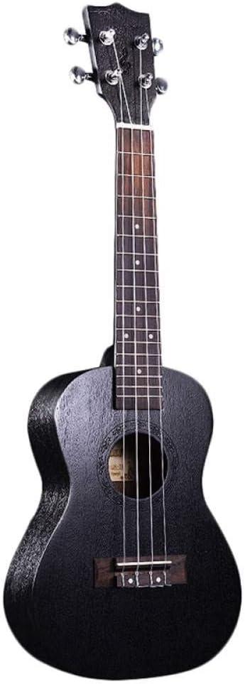 ZGHNAK Ukelele Negro 21 Pulgadas 4 Cuerdas Ukelele Barato Hawaii Mini Guitarra Caoba Madera
