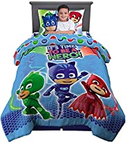 Franco Kids Bedding Super Soft Comforter with Sheets and Cuddle Pillow Bedroom Set, 5 Piece Twin Size, PJ Mask