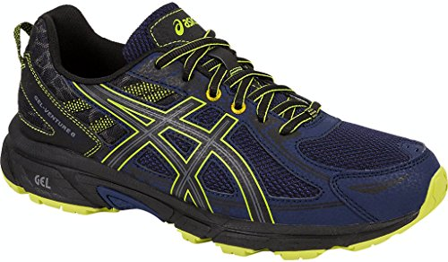 ASICS Mens Gel-Venture 6 Running Shoe, Indigo Blue/Black/Energy Green, 9.5 Medium US -