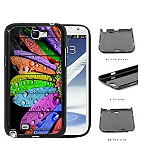 Water Droptlets On Multicolored Flower Petals Hard Plastic Snap On Cell Phone Case Samsung Galaxy Note 2 II N7100