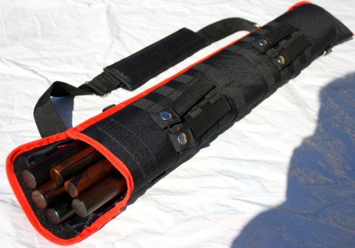 Tactical Carrying Case 2.5 Feet Long for Arnis or other Sports Equipment (Red Black)