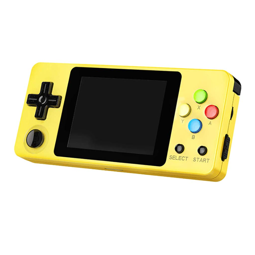 Basde LDK Game Handheld Gaming Console, Retro Portable Gaming System Handheld Game Console Kids Adults Screen by 2.6 Thumbs Mini Palm Nostalgia Console Children of Family TV Video (Yellow) by Basde (Image #7)