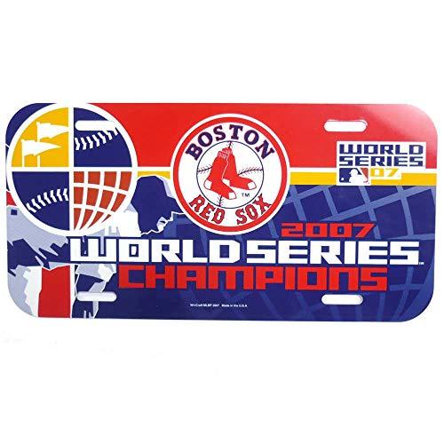 BOSTON RED SOX 2007 WORLD SERIES CHAMPS Logo Plastic LICENSE PLATE 2007 Champ Car World Series
