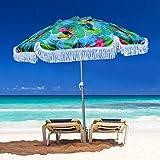 AMMSUN 2 MビーチアンブレラシーアンブレラUVキャンプ用品屋外用太陽を避けます