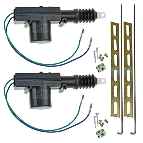 InstallGear Universal Car Power Door Lock Actuators 12-Volt Motor (2 Pack) -