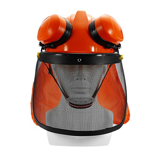 Yingte Chain Saw Forestry Safety Helmet with Ear Defenders,Mesh Visor Earmuffs Face Shield Protection by Yingte (Image #2)