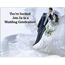 Black and White Wedding Invitation - 50/Pack