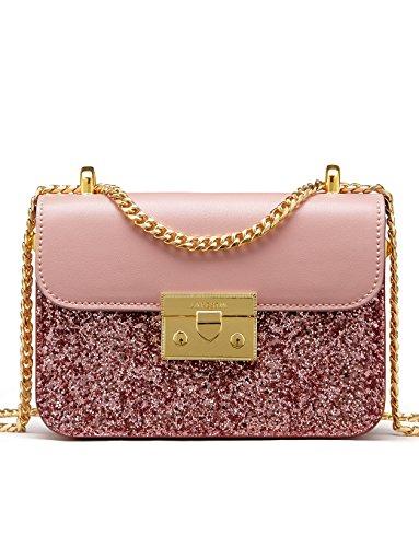 LA'FESTIN619237-parent - Bolso pequeño brillante a la moda Para mujer Rosado