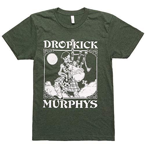 Dropkick Murphys Men's Vintage Skeleton Piper Slim Fit T-shirt Large ()