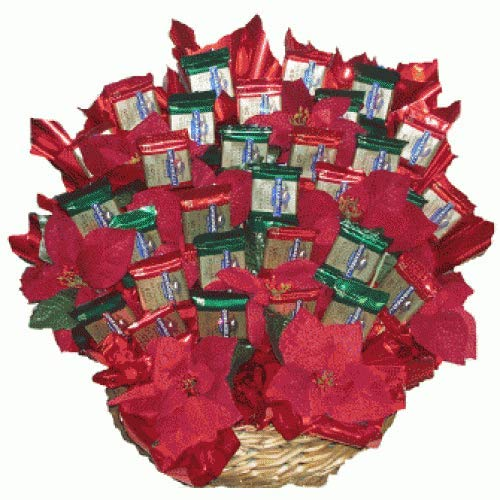 - UWS Ghirardelli Poinsettia Candy Bouquet, Large