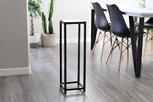 Skinny Tall Modern Industrial Metal Contemporary Accent Pedestal Plant Stand Table Decor Mid Century by Petrykowski Artworks