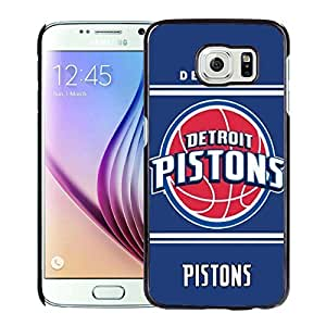 New Custom Design Cover Case For Samsung Galaxy S6 Detroit Pistons 10 Black Phone Case