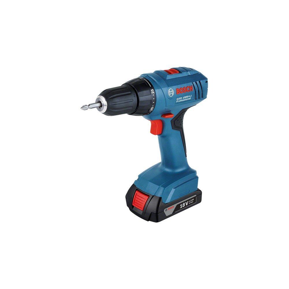 Bosch Professional GSR1800LI Perceuse visseuse avec 2 batteries en coffret 18 V GSR 1800-Li 2 x 1 5 Ah