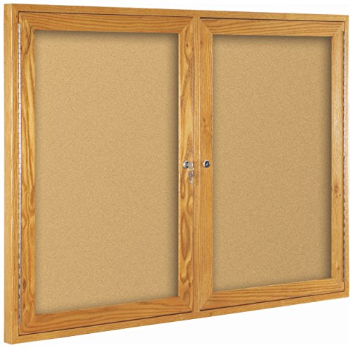 best-rite-wood-trim-enclosed-bulletin-board-cabinet-2-hinged-door-36h-x-48w-natural-cork-oak-frame-9