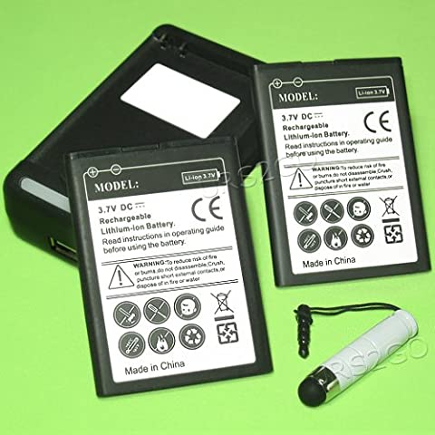 High Quality 2X 1800mAh Standard Battery + Desktop Charger for Huawei Valiant MetroPCS CellPhone (Huawei Valiant Battery)