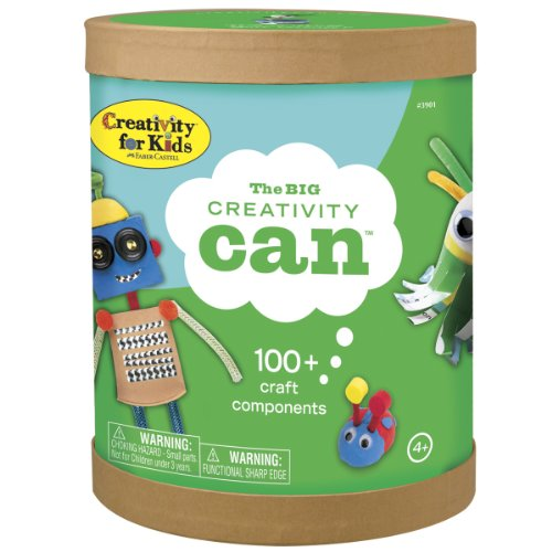 Creativity for Kids The Big Creativity Can - Open Ended Fun, 100+ Craft Components ()