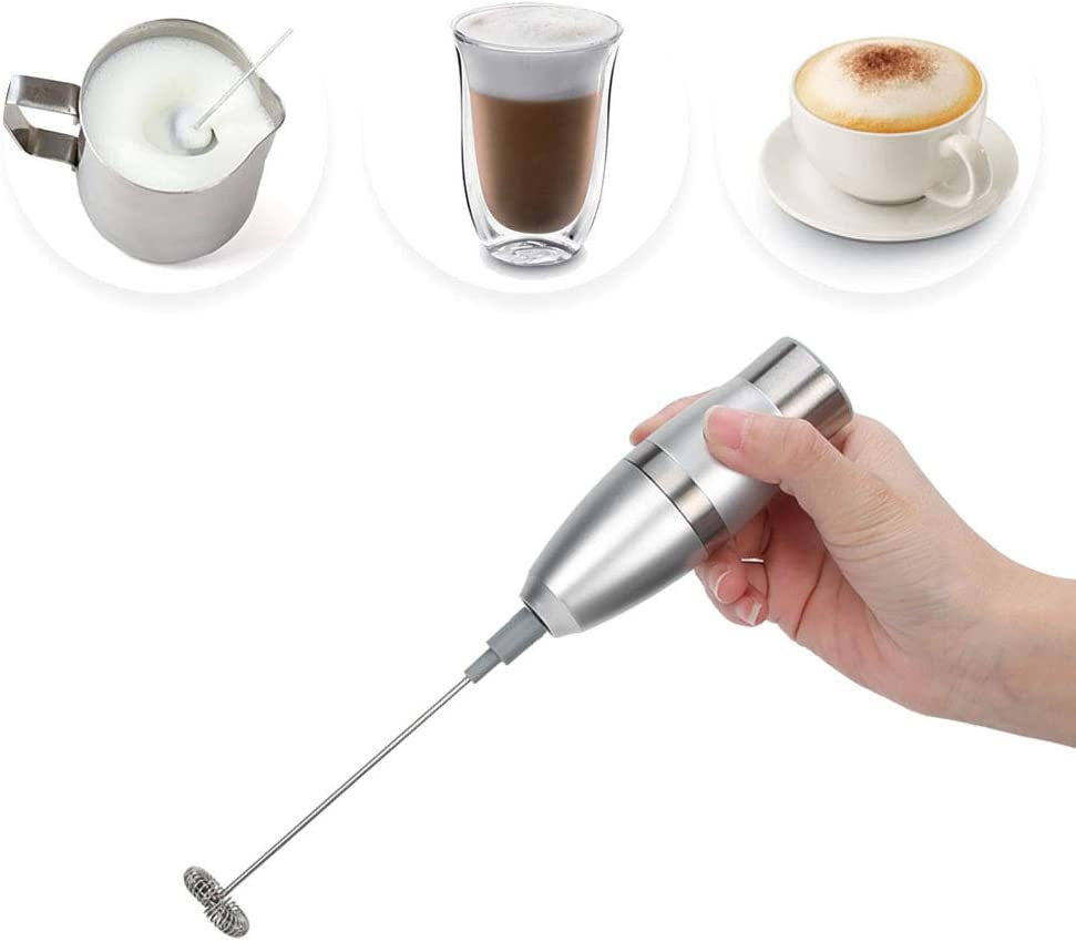 ?????????????????? ???????????????? Electric Egg Beater, Immersion Multi-Purpose Stainless Steel Electric Milk Frother Egg Beater Automatic Glass Mixing Cup Kitchen Tool, BPA-Free, 19000RPM,
