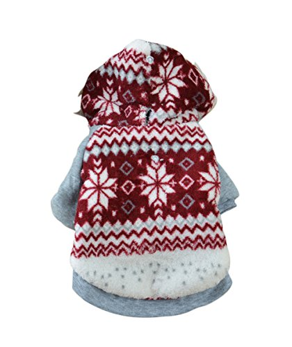 Uniquorn Pet Dog Clothes Bichon Teddy Clothes Fall Winter Thicker Coat Warm And Comfortable Snowflake Two Feet Dog Clothing