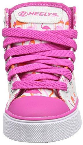HEELYS Veloz 770682 - Zapatos 1 rueda para niñas White/Pink/Flamingos