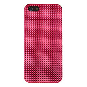 Electroplating Diamond Pattern Hard Case for iPhone 5/5S (Assorted Colors) --- COLOR:Black