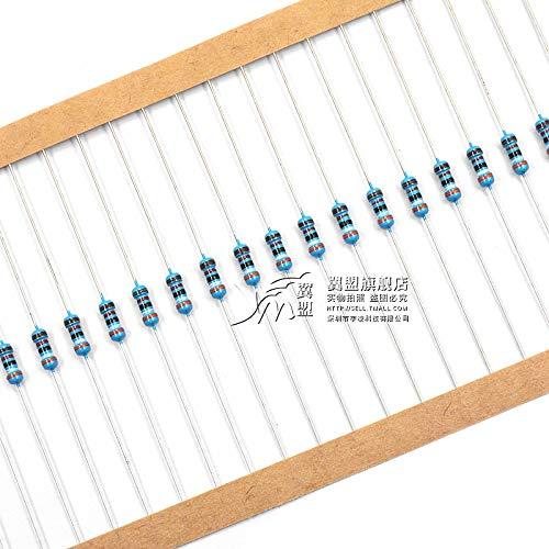 - Davitu 1/4w Metal Film Resistance 1% Pentachrome Ring Resistor Element 4.7 10 50 100 120 200 220 330 470 1k 2k 10k 4.7k 10 Euro 100k 1m - (Color: 0.25W, AMP: 10ohm, Size: 100-PCS)