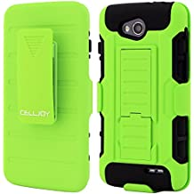 LG L90 Case CellJoy® [Future Armor] Hybrid Ultra Fit Dual Protection Cover Skin with Belt Clip Holster For LG Optimus L90 D415 T-Mobile [Retail Packaged] (Lime Green)