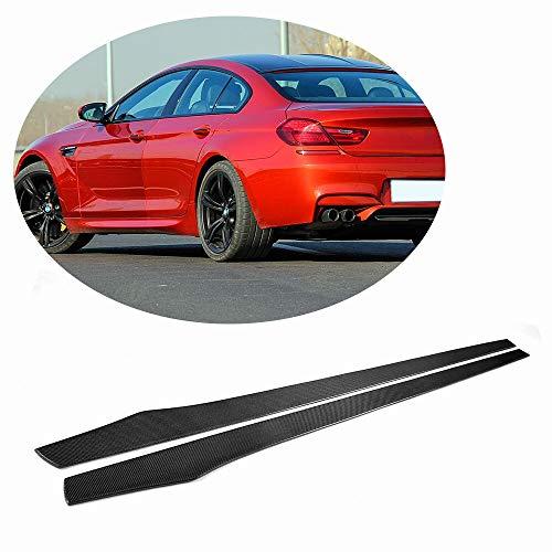 MCARCAR KIT Universal Door Side Skirts fits BMW Audi Benz VW Infiniti Honda Subaru Carbon Fiber Car Exterior Extension Rocker Pannel Apron Protector Body Kit ()